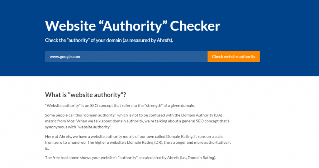 website authority